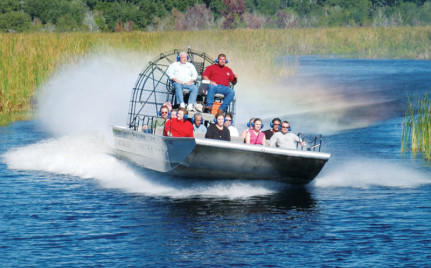 Exciting airboat ride through New Orleans's swamps with Airboat Adventures, swamp tours in louisiana