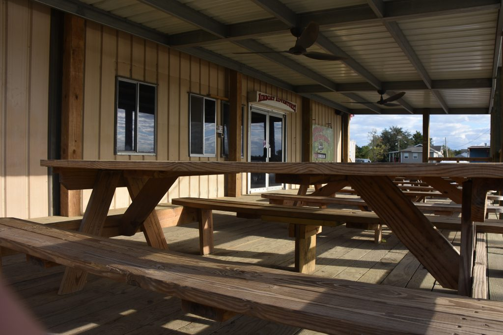 patio and dock to enjoy before or after the alligator tours