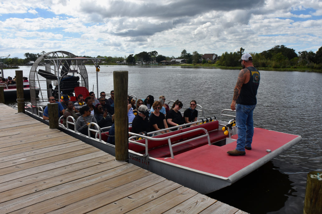 airboat tours on the dock