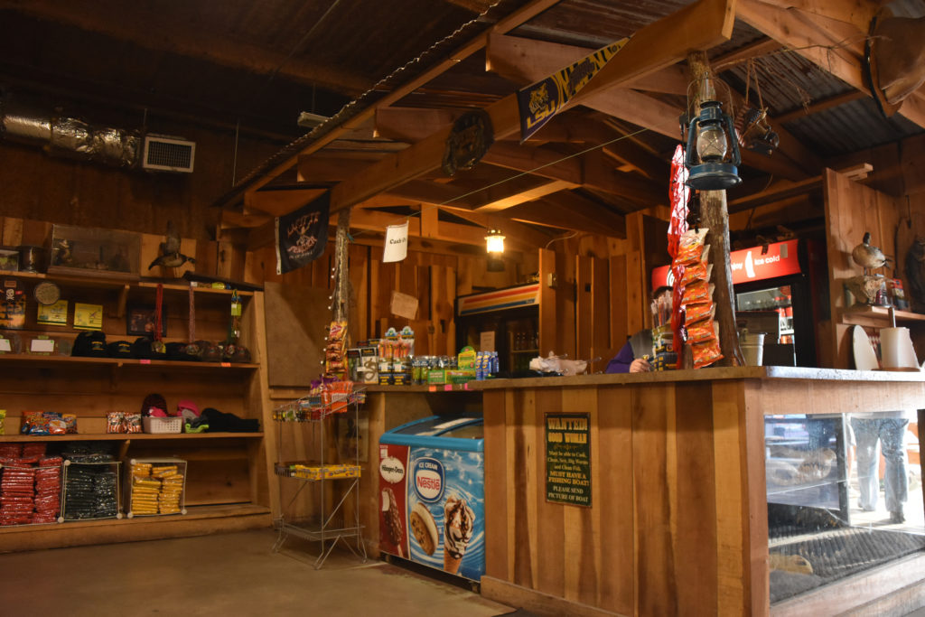 the store and gift shop at Airboat Adventures in NOLA, swamp tours new orleans